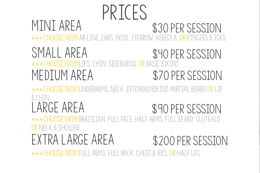 Laser Hair Removal Prices Beso Laser Hair Removal